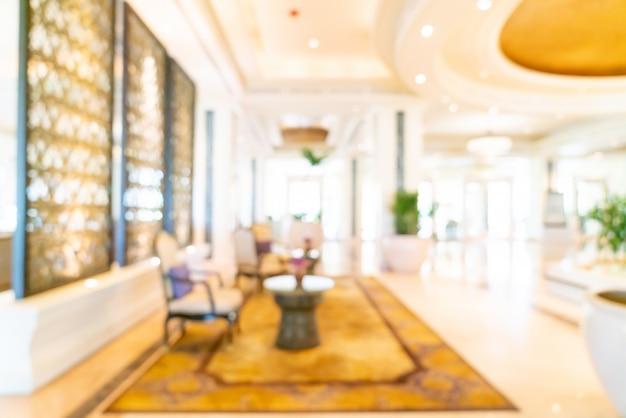 Resumo blur lobby do hotel de luxo para segundo plano