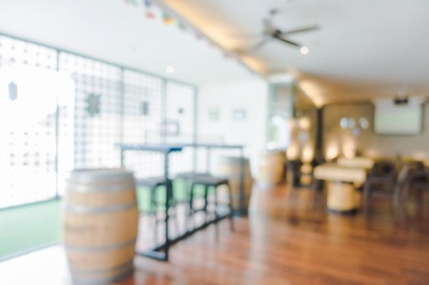 Resumo blur lobby do hotel e interior de restaurante do hotel para o fundo