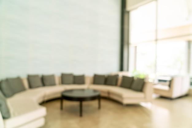 Resumo blur lobby do hotel para plano de fundo