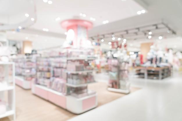 Resumo blur loja de varejo de luxo em shopping