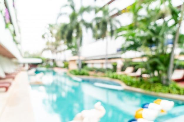 Resumo blur no hotel resort como fundo desfocado