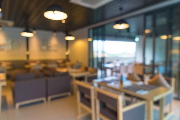 Resumo blur no restaurante para plano de fundo