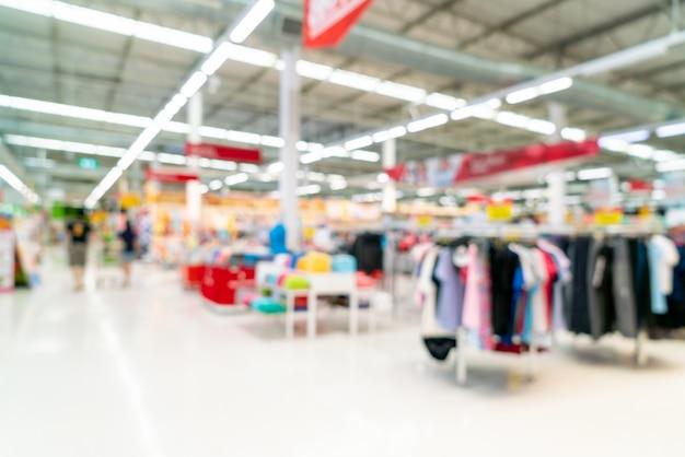 Resumo blur no supermercado para plano de fundo