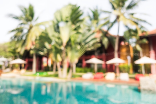 Resumo blur piscina