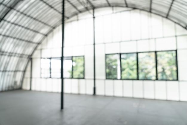 Resumo blur sala vazia com janela de vidro