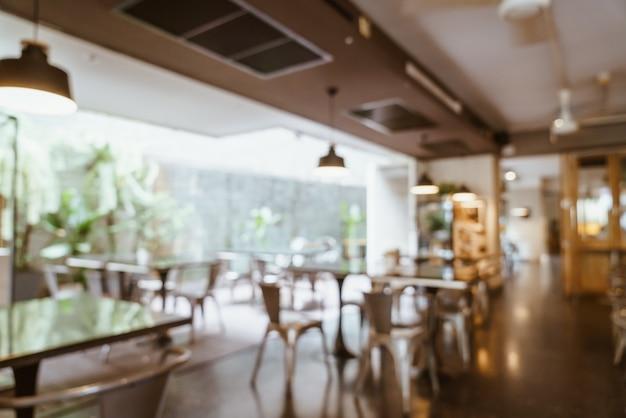 Resumo borrão e desfocado no café restaurante