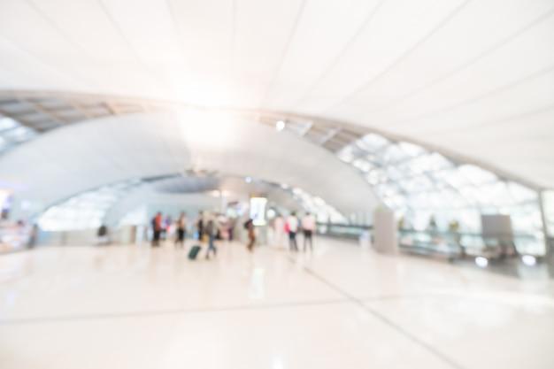 Resumo borrão interior do terminal de aeroporto