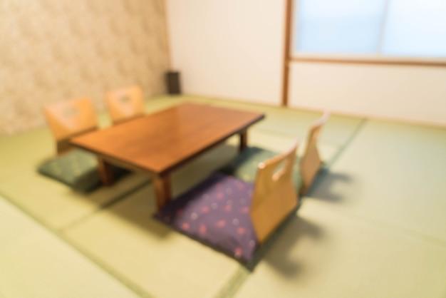 Resumo borrão mesa e cadeira no quarto