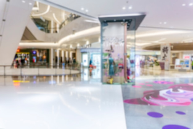 Resumo borrão shopping center do interior de loja de departamentos para o fundo