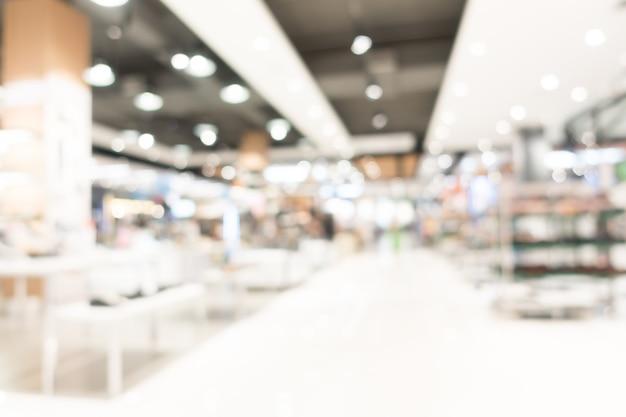 Resumo borrão shopping center interior