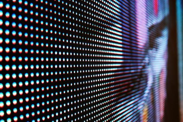 Resumo close-up brilhante colorido fundo de parede de vídeo led smd