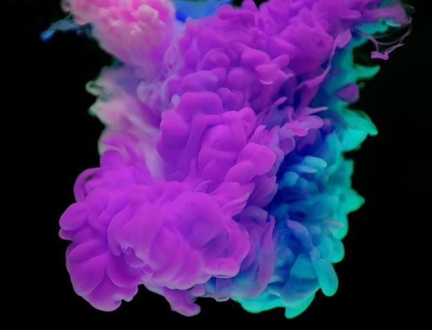 Resumo da nuvem roxa e azul