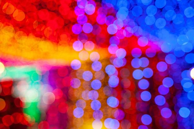 Resumo de bokeh colorido luz de fundo, conceito de escuridão