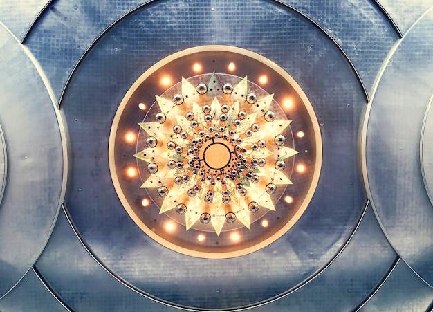Resumo de design de arte luz candelabro