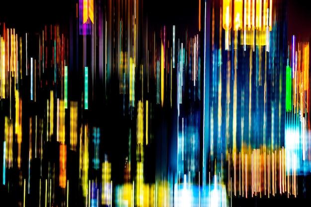 Resumo de feiras de luz multicoloridas da cidade em movimento