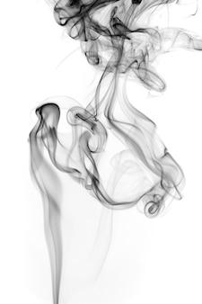 Resumo de fumo preto e branco sobre fundo branco, design de fogo