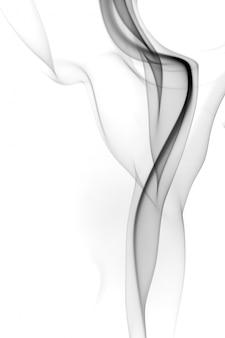 Resumo de fumo preto sobre fundo branco