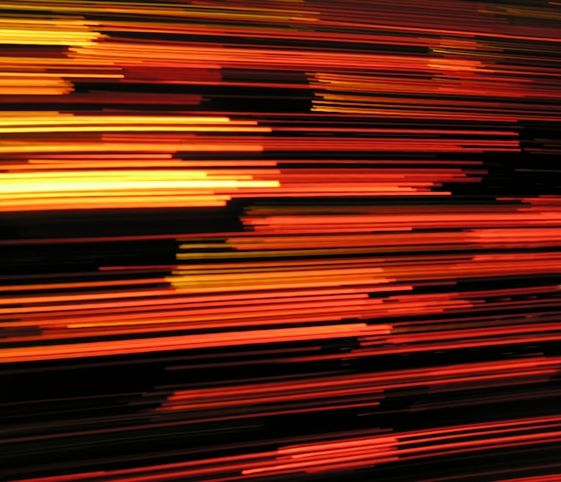 Resumo de fundo de efeito de luzes de velocidade nas cores pretos e vermelhos
