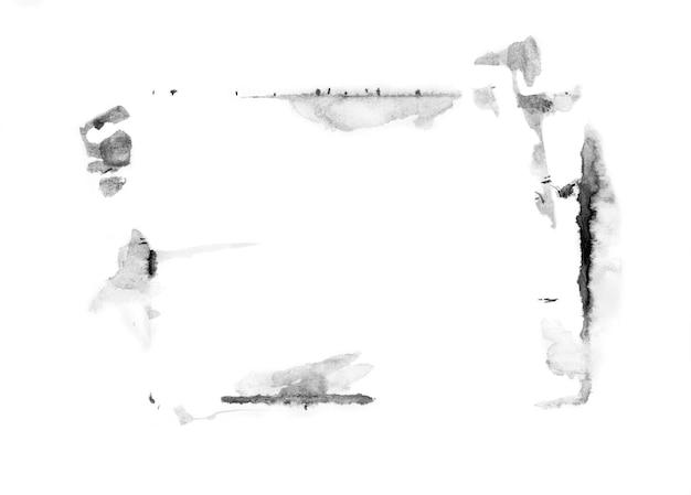 Resumo de manchas de tinta mão ilustrações desenhadas.