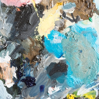 Resumo de pintura a óleo artística multicolorido texturizado