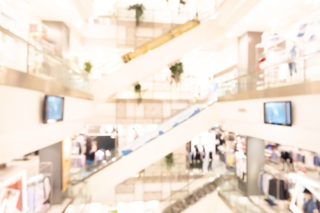 Resumo de shopping center desfocado fundo desfocado. conceito de negócios.