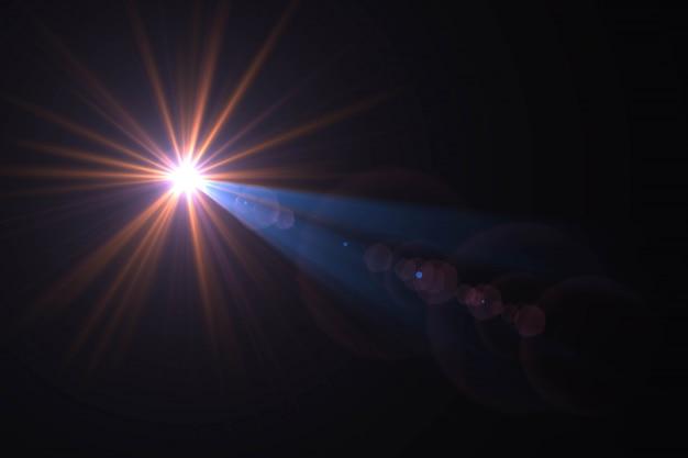 Resumo de sol com reflexo. fundo natural com luzes e papel de parede da luz do sol.
