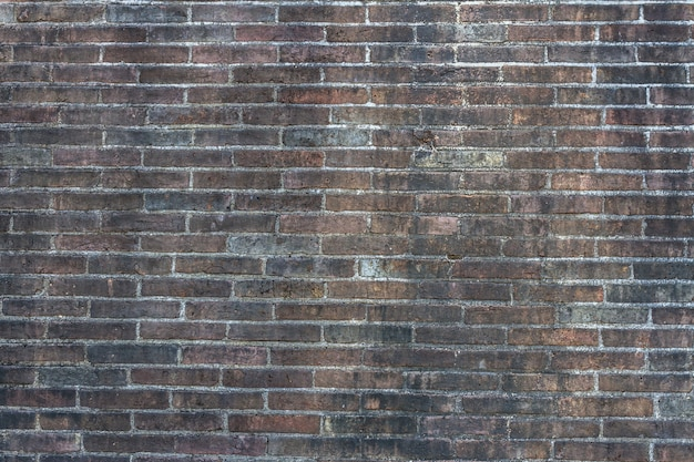 Resumo de tijolo preto velho. fundo da parede de tijolo. textura de parede de tijolo de grunge. parede de tijolo cinza escuro.