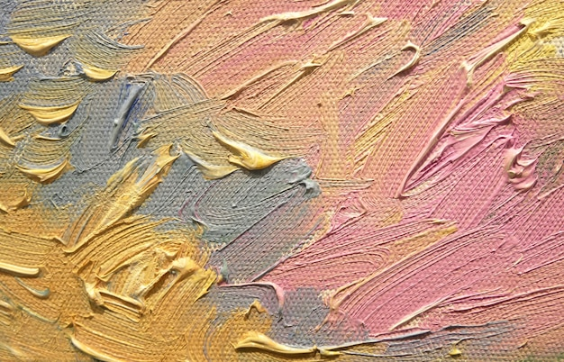 Resumo de traçados de pincel acrílico de cor pastel.