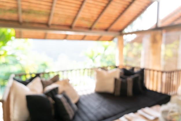Resumo desfocar a área de estar no terraço da varanda