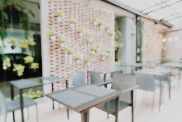 Resumo desfocar café e restaurante para segundo plano