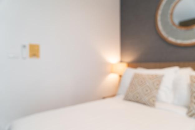 Resumo desfocar interior de quarto de hotel de luxo