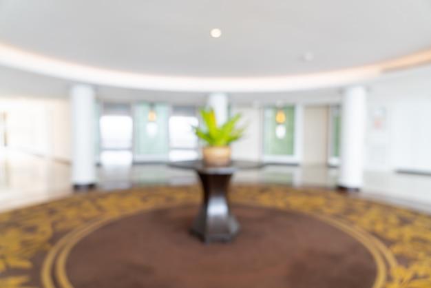 Resumo desfocar lobby e lounge de hotel de luxo para segundo plano