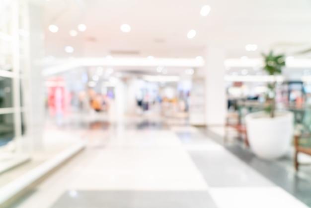 Resumo desfocar loja e loja de varejo em shopping para plano de fundo