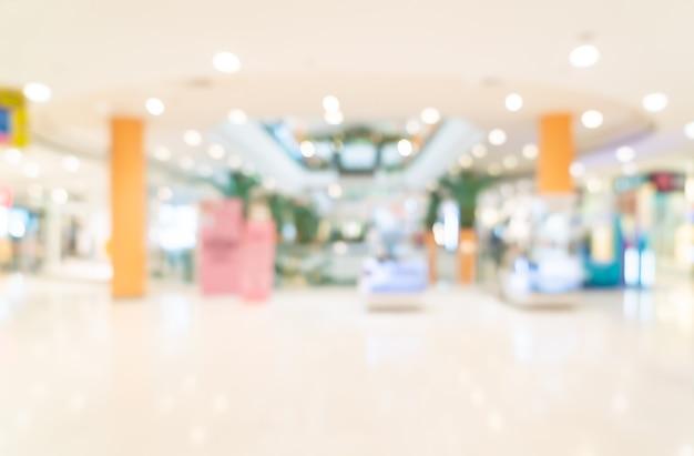 Resumo desfocar loja e loja de varejo em shopping para segundo plano