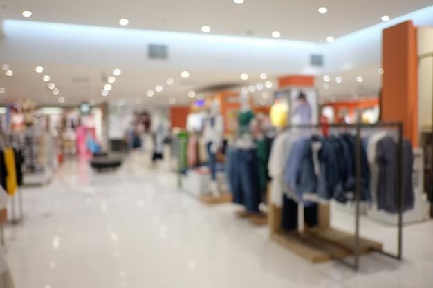 Resumo desfocar o fundo interior ou shopping desfocado da loja de departamentos.