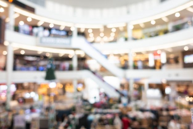 Resumo desfocar o interior do shopping da loja de departamento