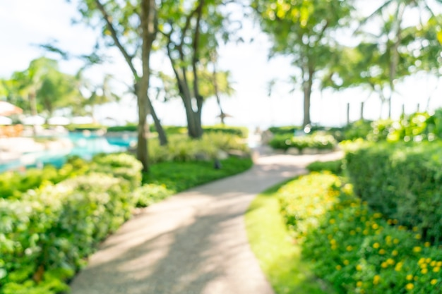 Resumo desfocar resort de hotel de luxo para segundo plano - conceito de férias e férias