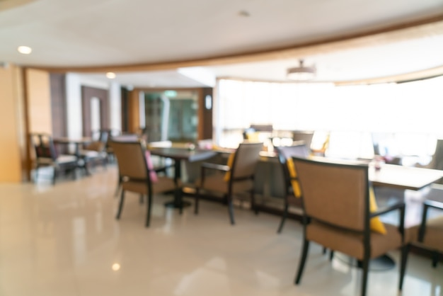 Resumo desfocar saguão de hotel de luxo e lounge para segundo plano
