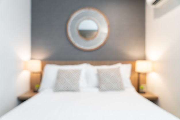 Resumo desfoque interior de quarto de hotel de luxo para segundo plano