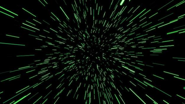 Resumo do movimento da urdidura ou hiperespaço na trilha da estrela azul. movimento de explosão e expansão. ilustração