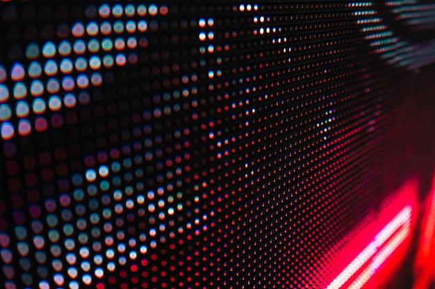 Resumo fechar brilhante colorido led smd parede vídeo abstrato