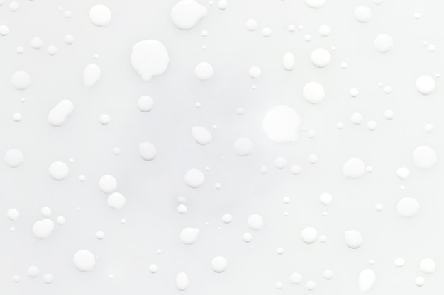 Resumo gotas chuva de tinta branca