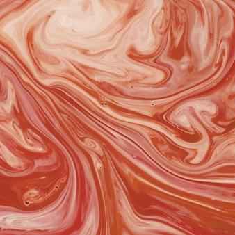 Resumo interminável um líquido de textura laranja e branco