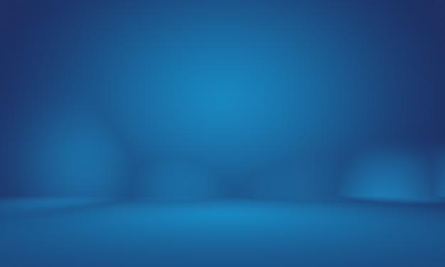 Resumo liso azul escuro com vinheta preta studio bem usar como plano de fundo, relatório de negócios, digital, modelo de site, pano de fundo. Foto gratuita