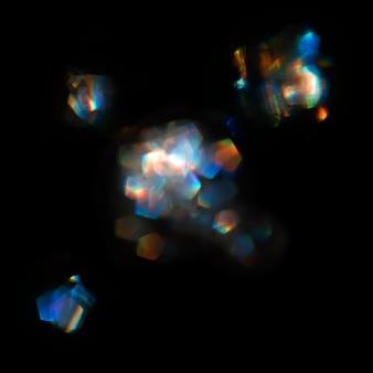 Resumo manchas de luz de cor turva. lente, vidro ou cristal flare bokeh