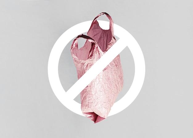 Resumo nenhum conceito de saco de plástico