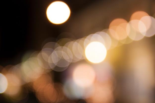 Resumo noite luzes de bokeh de natal