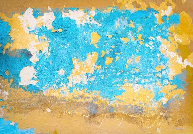 Resumo pintado com textura de fundo de parede de cimento rachado e rachado