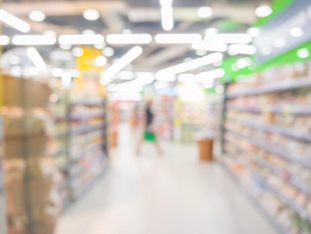 Resumo supermercado turva, conceito de estilo de vida urbano. dof raso