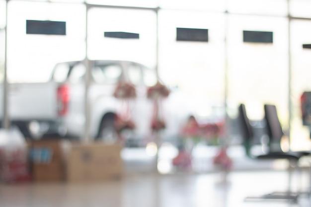 Resumo turva escritório, empresa de vendas de carro para o fundo